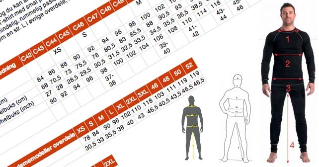 Størrelsesguide og vejledning