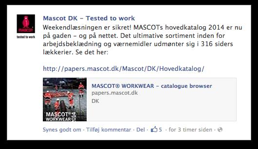 MASCOT Facebook katalog